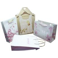 Buy cheap Anvenue Trapezia Bags,  Paper Carrier Bag With Embossed Pattern, Gold Twist Rope from wholesalers