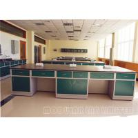 Buy cheap Physical Pedestal Laboratory Work Benches Self Edged Laminate Work Surfaces from wholesalers