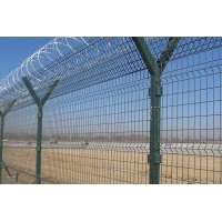 Buy cheap V shape Airport Security Fence 2.5*3.0m PVC Coated Razor Barbed Wire from wholesalers