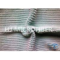 Buy cheap Microfiber Stripe Coral Fleece Cloth 100 Polyester Fabric For Micro Fiber Cloth from wholesalers