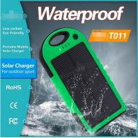 Buy cheap 5000mAh Solar Panel Power Bank for Samsung Galaxy S4 S5 outdoor using IP65 from wholesalers