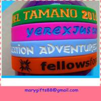 Buy cheap most popular silicone bracelet with debossed ink colored from wholesalers