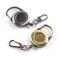Buy cheap Classic Metal Retractable Badge Clip Key Holder Round Antique Matte Surface from wholesalers
