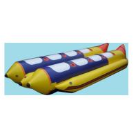 Buy cheap Waterproof 4 Person Inflatable Boat , Hard Bottom Inflatable Boats 3 Layer Leakproof from wholesalers