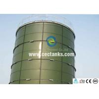 China Dark green glass coated steel tanks , glass fused to steel water tanks on sale