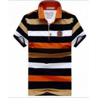 Buy cheap Men's stripe print polo t shirt 100%cotton OEM Mens Polo Shirts from wholesalers