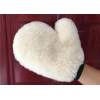 Buy cheap Auto Detailing Real Car Cleaning Gloves , Ultra Soft Wool Car Wash Mitt  from wholesalers