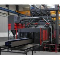 Buy cheap Efficient Roller Conveyor Shot Blasting Machine For Steel Rust Remove And Cleaning from wholesalers