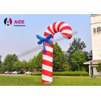 Buy cheap 3 M Christmas Candy Cane Inflatable Holiday Decor Santa Gift Red Oxford Cloth from wholesalers