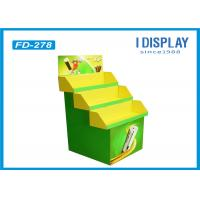 Buy cheap Battery Green Cardboard Retail Pallet Displays Shelves With 3 Pallets from wholesalers
