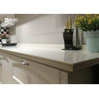 Buy cheap Man Made White Color Quartz Stone Countertops With Sparkle SGS ISO9001 Approved from wholesalers