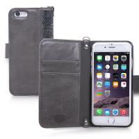 Buy cheap IPhone 6/6s Leather Phone Case , Synthetic Leather Suede Flip Wallet Case Cover from wholesalers