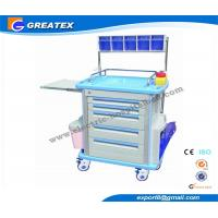 Buy cheap Plastic Drawer emergency crash cart , ABS Hospital Furniture Trolley IV pole from wholesalers