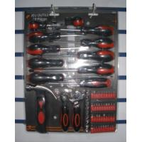 Buy cheap 63 pcs screwdriver tool set ,with sockets ,pliers ,wrench ,hammer . from wholesalers