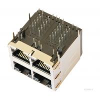 Buy cheap SI-35003-F 10/100 BT 2X2 RJ45 Jack Shielded  Ethernet Network  LPJ27202CNL from wholesalers