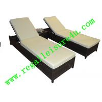 Buy cheap RLF-11033HL outdoor garden 3pcs rattan sun lounger furniture set from wholesalers