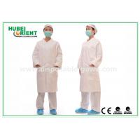 Buy cheap White tyvek disposable lab coats / protective disposable chemical suits Breathable from wholesalers