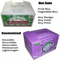 Buy cheap White / Purple Reusable Waterproof Corrugated Plastic Trays / Flute Box from wholesalers