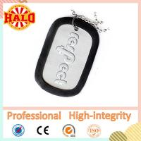 Buy cheap Logo engraved metal silicone dog tag silencer dog tag blanks from wholesalers