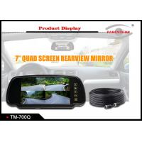 Buy cheap 7 Inch Quad Screen Car Rearview Mirror Monitor 4 Way Inputs For Mini Bus / RV / from wholesalers
