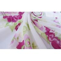 Buy cheap Large Flowers White Wrinkled Chiffon Fabric from wholesalers
