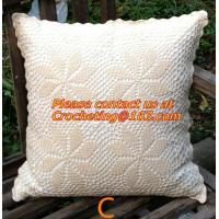 Buy cheap Cotton knitting Cushion cover, handmade crochet pillow cover, sofa cushion covers, pillow from wholesalers