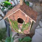 Buy cheap Wood Handmade Bird House for Garden from wholesalers