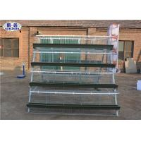 Buy cheap 2 Sides Layer Chicken Cage , Poultry Breeding Cages Green Feed Trough from wholesalers