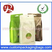 Buy cheap Flat Bottom Foil Plastic Ziplock Bag For Tea , Stand Up Packaging Pouches With Window from wholesalers