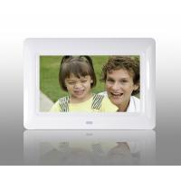 White 7 Inch TFT High Resolution Digital Picture Frame With USB 2.0 Interface