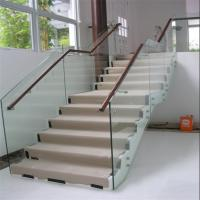 Buy cheap Wholesale beautiful indoor staircase standoff glass railing from wholesalers