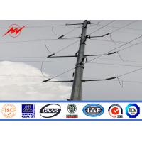 Buy cheap 30FT IP65 Steel Transmission Poles / Galvanized Light Pole With 3mm Thickness from wholesalers