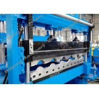 Buy cheap Steel Metal Roof Panel Roll Forming Machine 0.3 - 0.6mm Material Thickness from wholesalers
