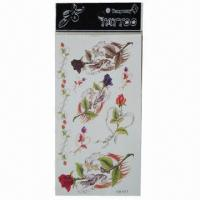 Buy cheap Removable Body Tattoo Stickers, Safe and Nontoxic, Easy-to-apply and -remove product