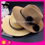 Buy cheap 2017 Fabrics Used Make Cheap Panama D30cm 60g China Cowboy Paper Women Summer Straw Hats from wholesalers
