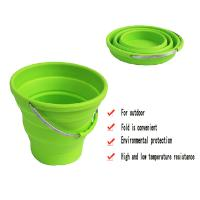 Quality Custom durable silicone folding bucket for picnic household product for sale
