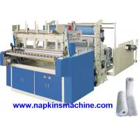 Buy cheap Horizontal Jumbo Roll Toilet Paper Roll Making Machine , Electric / Pneumatic Control from wholesalers
