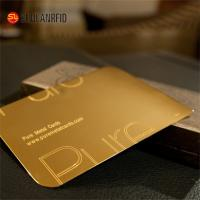 Buy cheap Customize Cheap Embossed Thick Plastic Pvc Luxury Foil Gold Metal Business Cards Printing from wholesalers