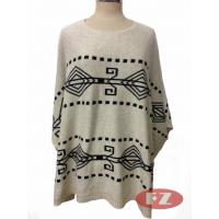 Buy cheap Customized Lady Casual Smock Poncho Fine-knit Sweater Oversized S-XXXL Knitwears for Spring or Autumn from wholesalers