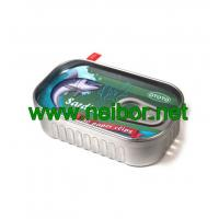 Buy cheap fake Sardine style tin can metal container for paper clips storage from wholesalers