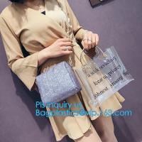 Buy cheap New Design Elegant Transparent Handbags Shoulder Tote PVC Beach Bags for women, PVC Tote Bag Shoulder Handbag Transparen from wholesalers
