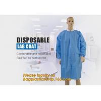 Buy cheap Disposable Isolation Non- Woven Gown,Disposable Hospital Non woven Medical White Lab Coat,Disposable Industrial Overall from wholesalers