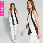 Buy cheap American style summer new OL chiffon shirt fake Fancy Shawl Collar elegant ladies shirt from wholesalers