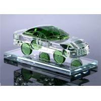 Buy cheap Car Shape Crystal Decorative Glass Bottles Yellow / Green / Blue / White Color Optional from wholesalers