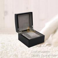 Buy cheap Good Quality Luxury Matte Black Archered Lid Wooden Watch Gift Box with 1 Slot, Personalized Logo Brand. product