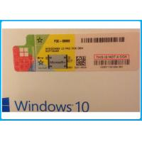 Buy cheap Windows 10 pro 32 Bit / 64 Bit Product Key Code Microsoft Windows 10 Pro Software with Silver scratch off label from wholesalers
