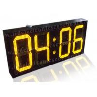 Buy cheap 20 Inch Yellow Color Commercial Digital Clock , Led Display Clock 88 / 88 Format from wholesalers