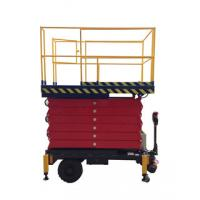 Buy cheap 9M Mobile Scissor Lift for Work Shop , 500Kg hydraulic elevator platform from wholesalers