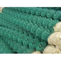 China 2.5m Height Green Chain Link Fence / PVC Coated Wire Fencing For Playground on sale