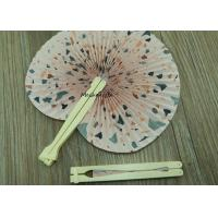 Buy cheap Ball Globe Type Plastic Hand Held Fans Unique Design Flower Theme from wholesalers